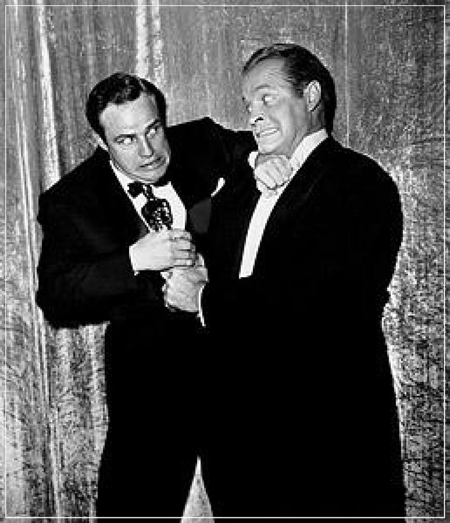 """Marlon Brando And Bob Hope With Oscar "" by Frank Worth Photography, Bob Hope won Best Actor for ""On the Waterfront"" in 1955"