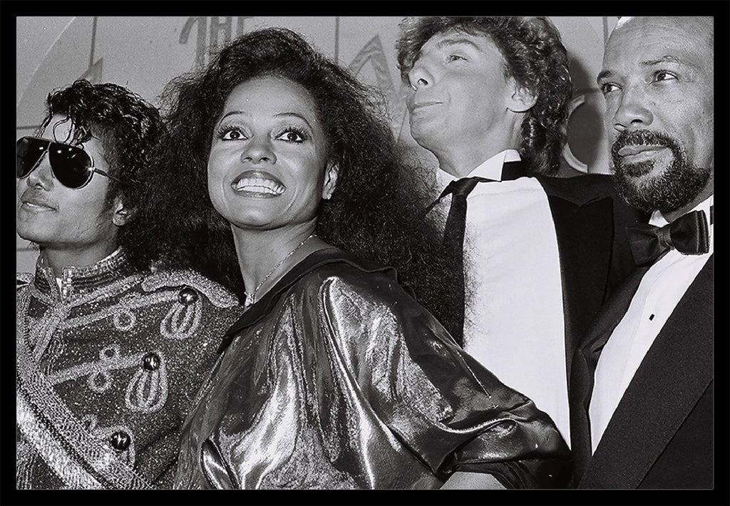Whitaker Historic Photography: Michael Jackson and Diana Ross-Fine Art Print-Global Images Gallery-16x20-In stock-Global Images
