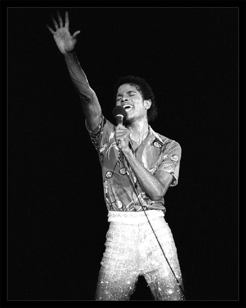 Whitaker Historic Photography: Michael Jackson On Stage Solo 4-Fine Art Print-Global Images Gallery-16x20-In stock-Global Images