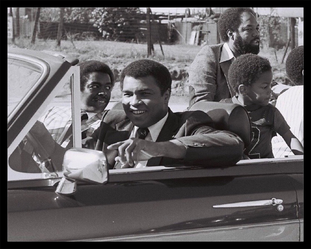 Whitaker Historic Photography: Muhammad Ali In Car-Fine Art Print-Global Images Gallery-16x20-Global Images