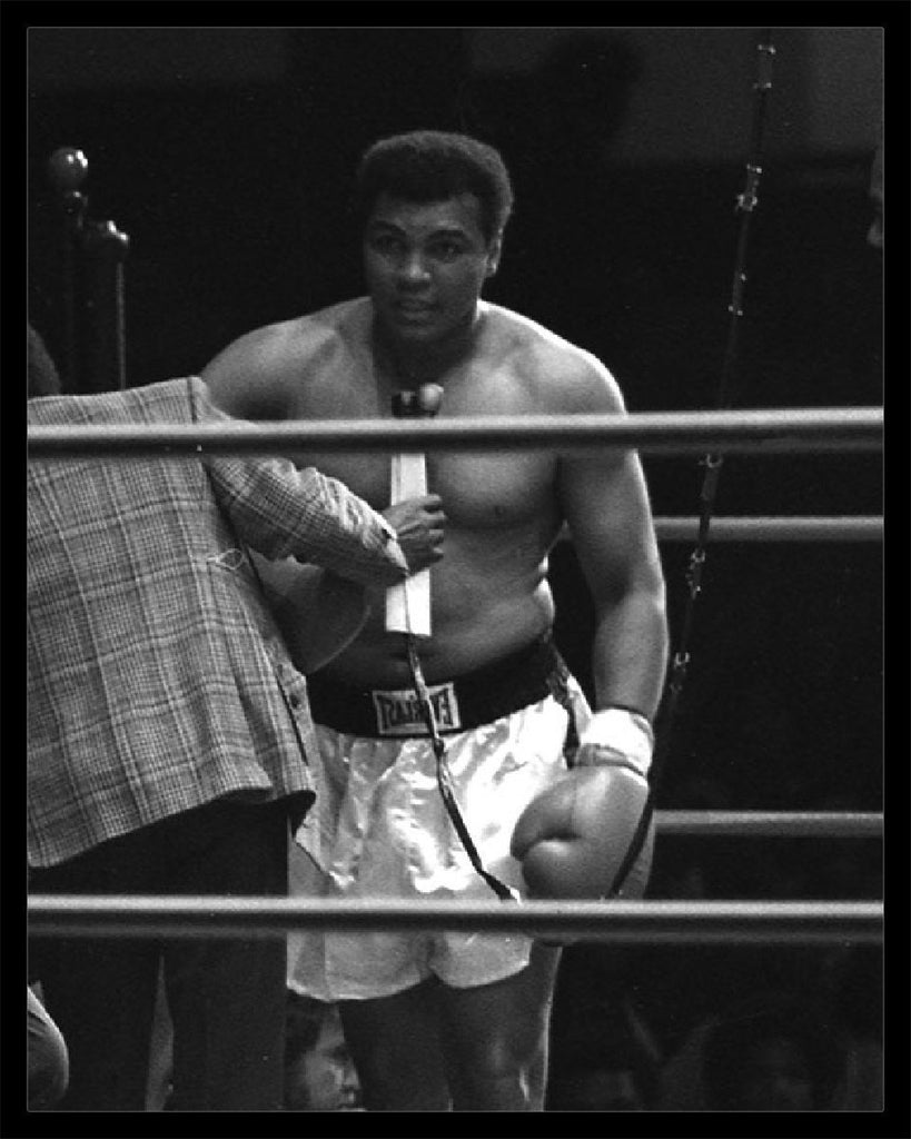 Whitaker Historic Photography: Muhammad Ali In Ring 10, Interview-Fine Art Print-Global Images Gallery-16x20-Global Images