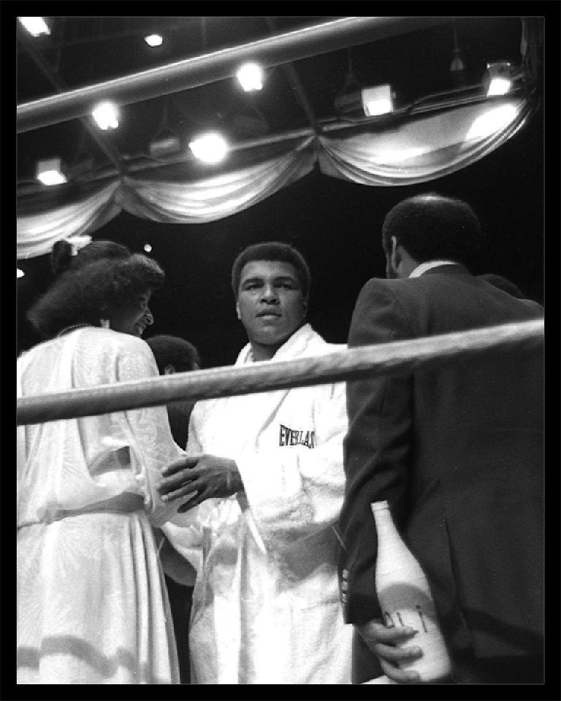 Whitaker Historic Photography: Muhammad Ali In Ring 6, In Robe, Close Up-Fine Art Print-Global Images Gallery-16x20-Global Images