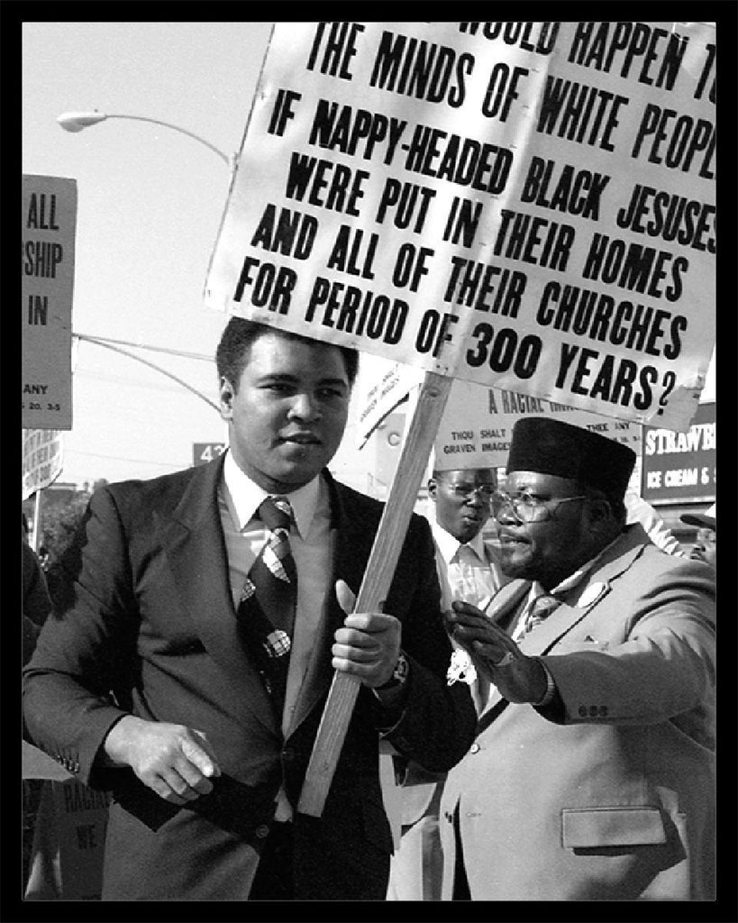 Whitaker Historic Photography: Muhammad Ali, Kwanzaa Parade Los Angeles 1981-Fine Art Print-Global Images Gallery-16x20-50-In Stock-Global Images