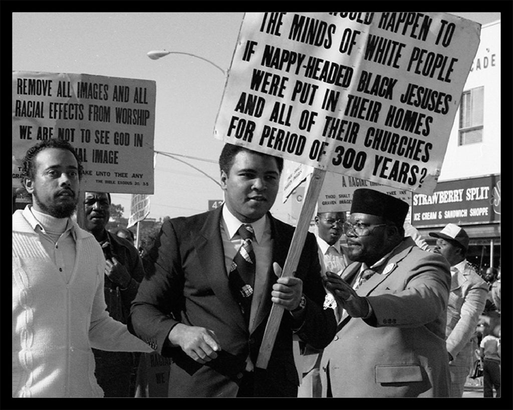 Whitaker Historic Photography: Muhammad Ali, Kwanzaa Parade Los Angeles 1981, Wide Shot-Fine Art Print-Global Images Gallery-16x20-50-In Stock-Global Images