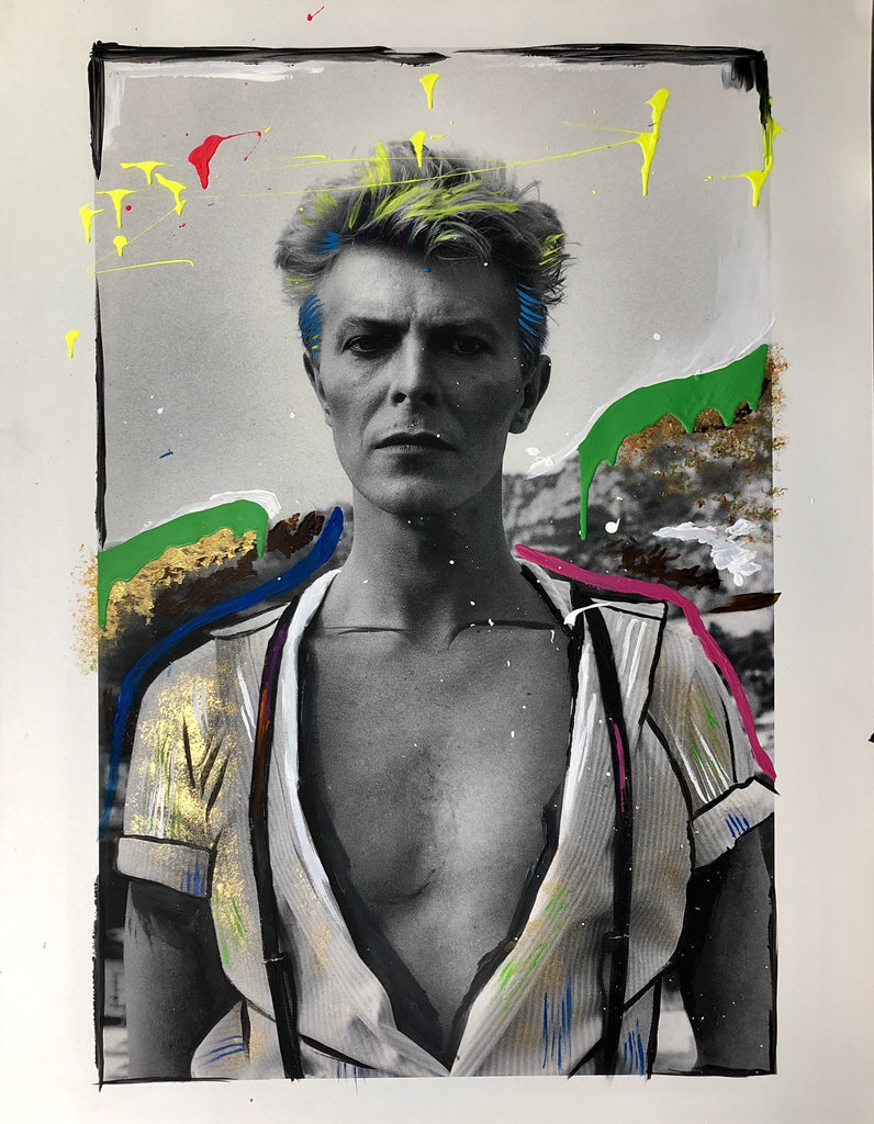 Photo Fusion: David Bowie-Limited Edition Embellished Print-Global Images Gallery-13x19-Global Images