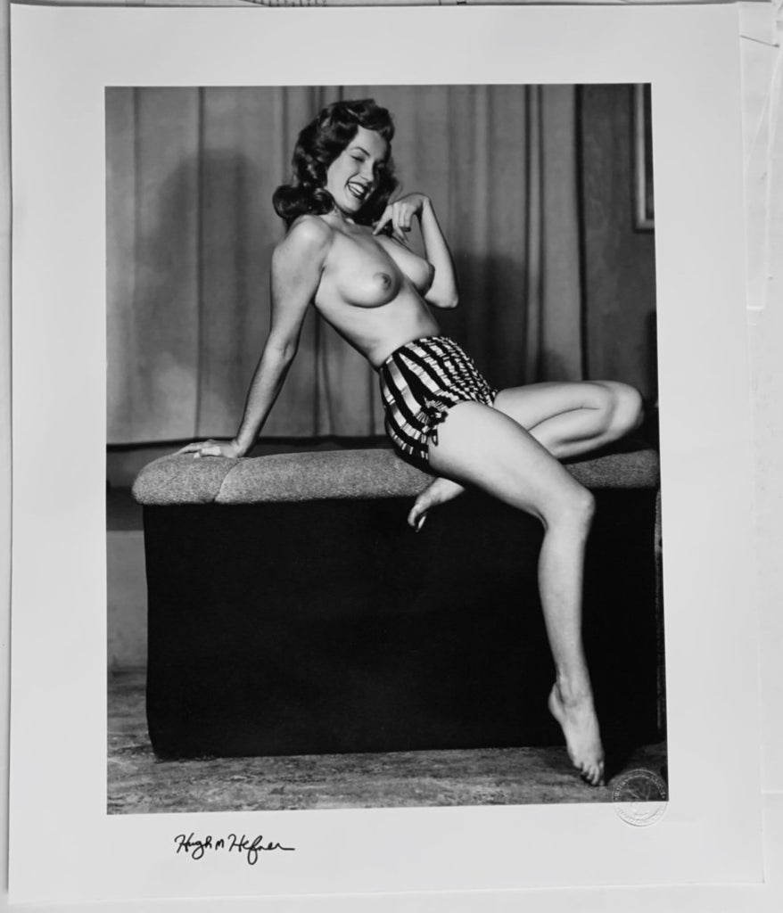 "Playboy Legacy Collection ""The Nude Marilyn II"" 20x24 Silver Gelatin Print Signed By Hugh Hefner-Fine Art Print-Global Images Gallery-20x24-Global Images"