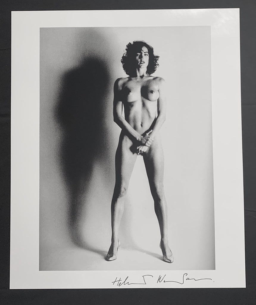 "Rare Signed ""Big Nude III Henrietta, Paris 1980"" 20x24 Vintage Silver Gelatin Print by Helmut Newton Photography (Inquire for Pricing)-20x24 Signed Vintage Silver Gelatin-Global Images Gallery-Global Images"