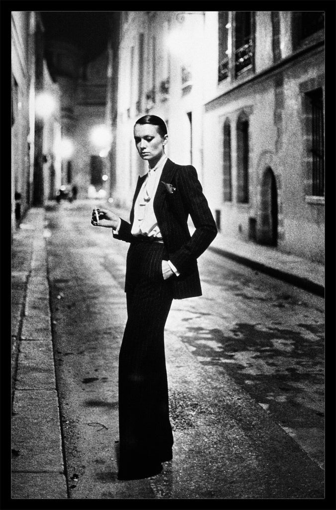 "Rare Signed 20x24 ""Rue Aubriot, Parisian Street 1975"" Vintage Silver Gelatin Print by Helmut Newton Photography-Global Images Gallery-Global Images"