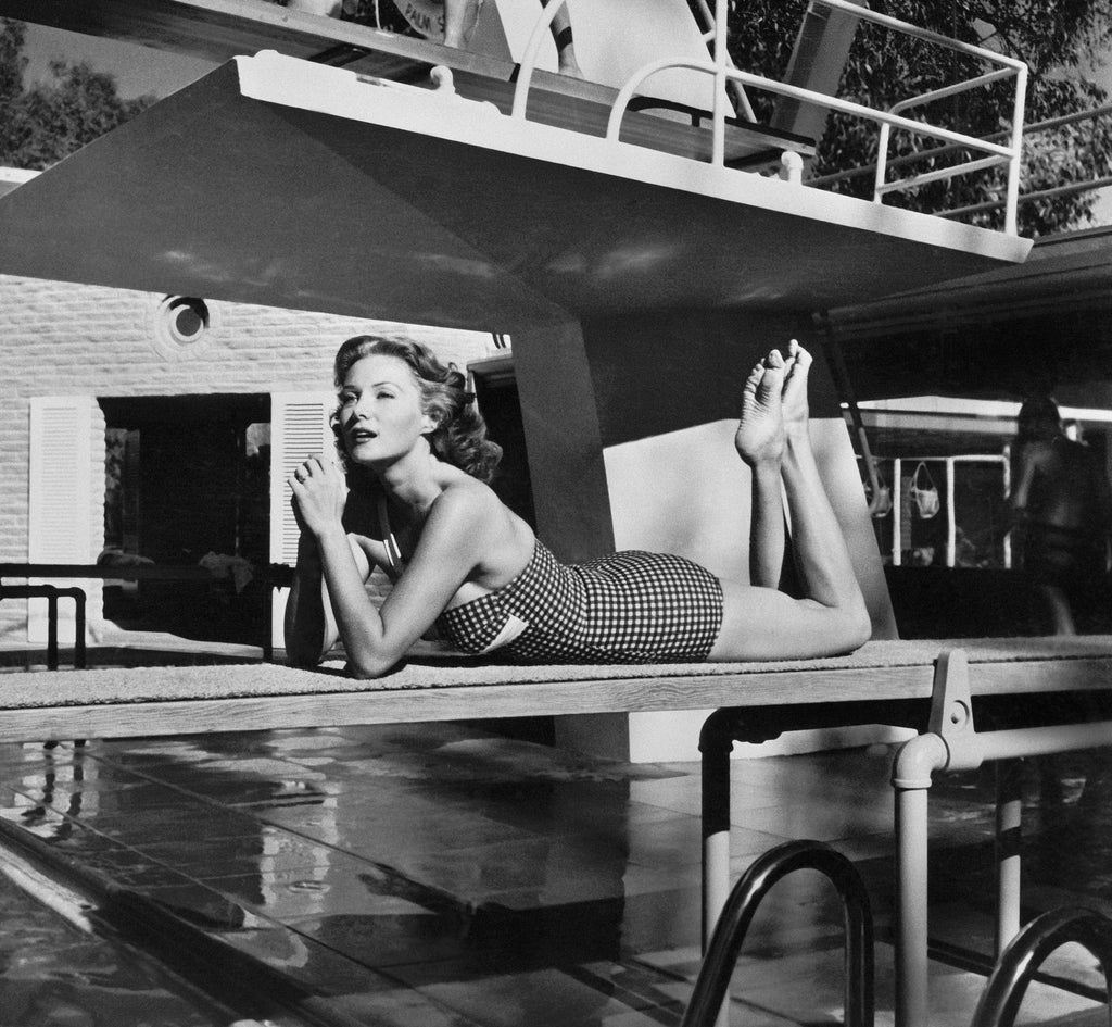 "Frank Worth Collection ""Rhonda Fleming On Diving Board"" w/coa - Global Images Gallery"