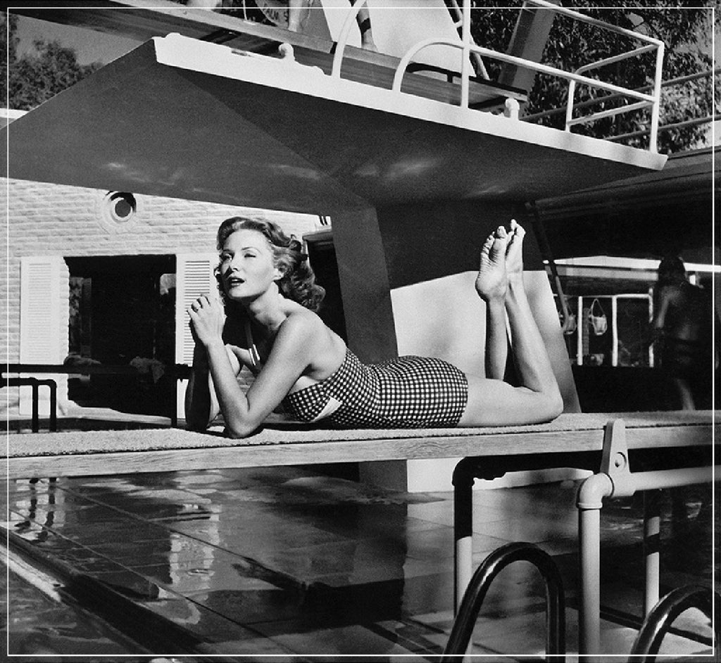 """Rhonda Fleming On Diving Board"" by Frank Worth Photography"
