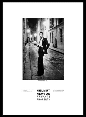 """Rue Aubriot, Paris 1975"" 24x36 Gallery Poster by Helmut Newton - Global Images Gallery"