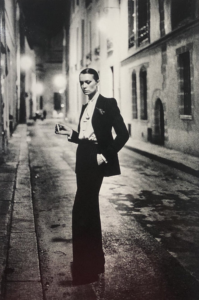"""Rue Aubriot, Parisian Street 1975"" Vintage Silver Gelatin Print by Helmut Newton Photography-Global Images Gallery-Global Images"