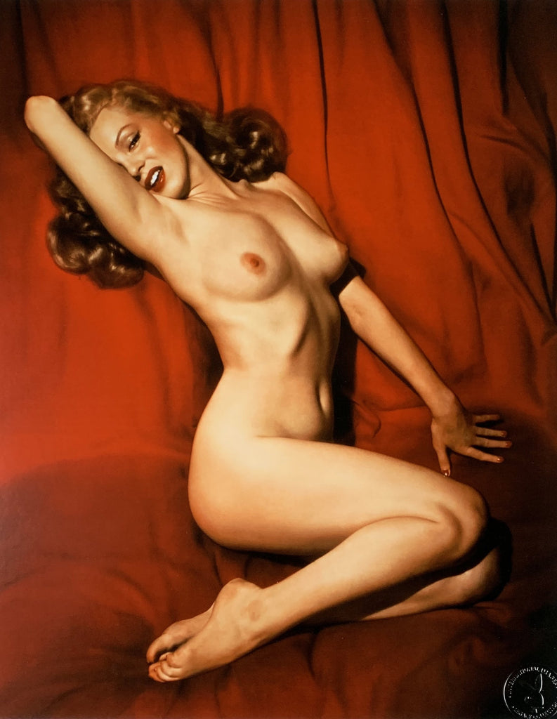 """Sweetheart Of The Month"" 20x24 Marilyn Monroe December 1953 by Tom Kelley. Signed by Hugh Hefner-Global Images"