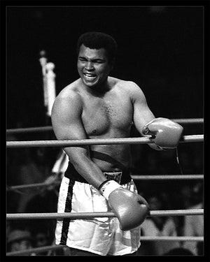 Whitaker Historic Photography: Muhammad Ali Laughing In Ring PROMO-Fine Art Print-Global Images Gallery-Global Images