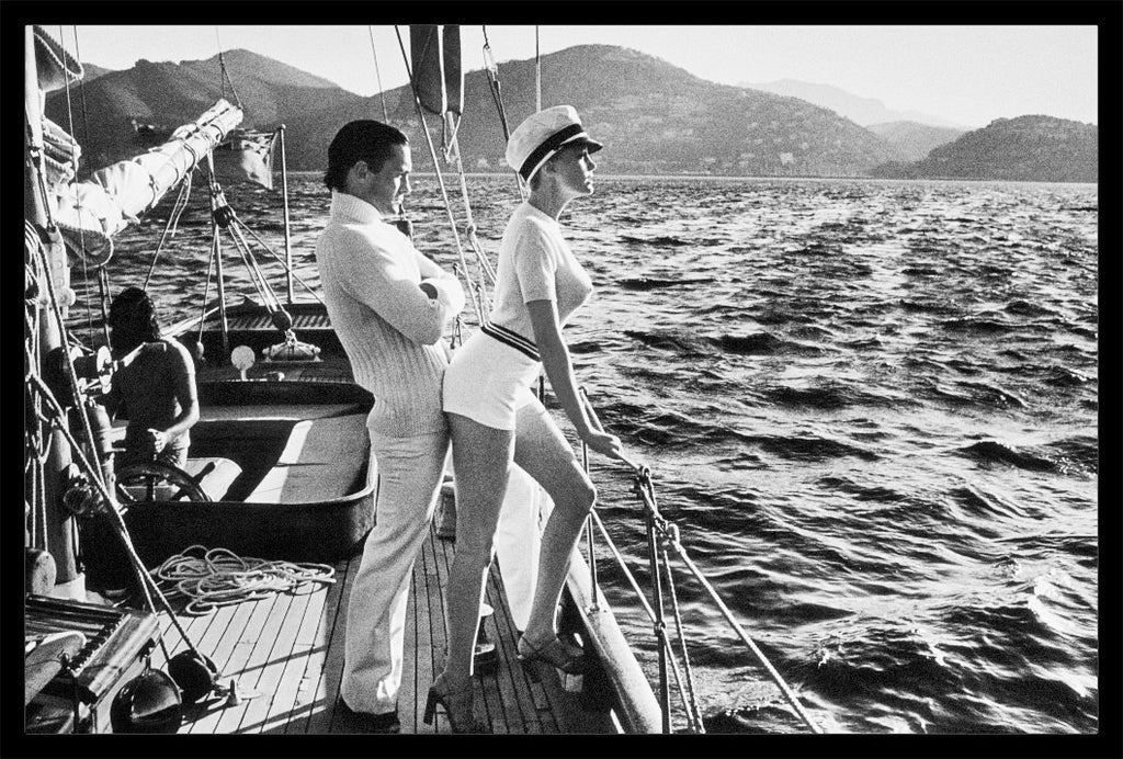 """Winnie On Deck Cannes, 1975"" Vintage Silver Gelatin Print by Helmut Newton Photography-Global Images Gallery-Global Images"