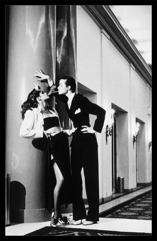 """Woman Into Man"" Vintage Silver Gelatin Print by Helmut Newton Photography-Global Images Gallery-Global Images"