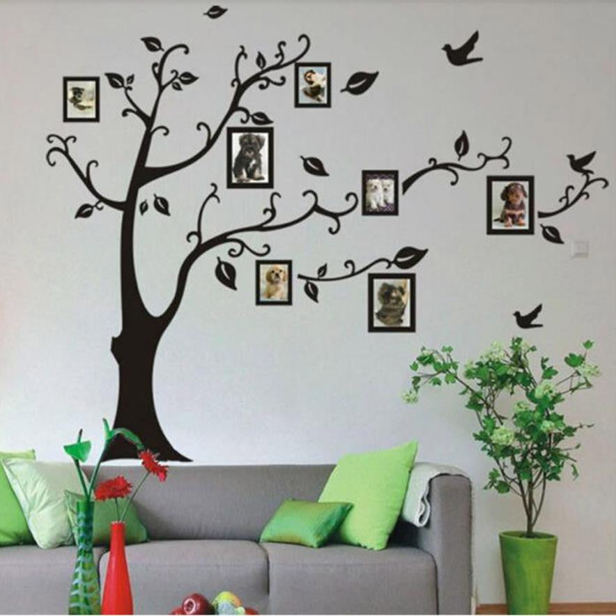 2016 New wall stickers for kids room decorations Frame Tree Wall Stickers Vinyl Home Stickers XT