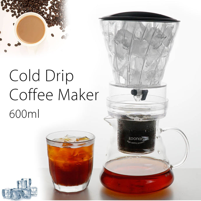 600ml Dutch Coffee Cold Water Drip Brewer Coffee Maker Machine Serve For 6 Cups