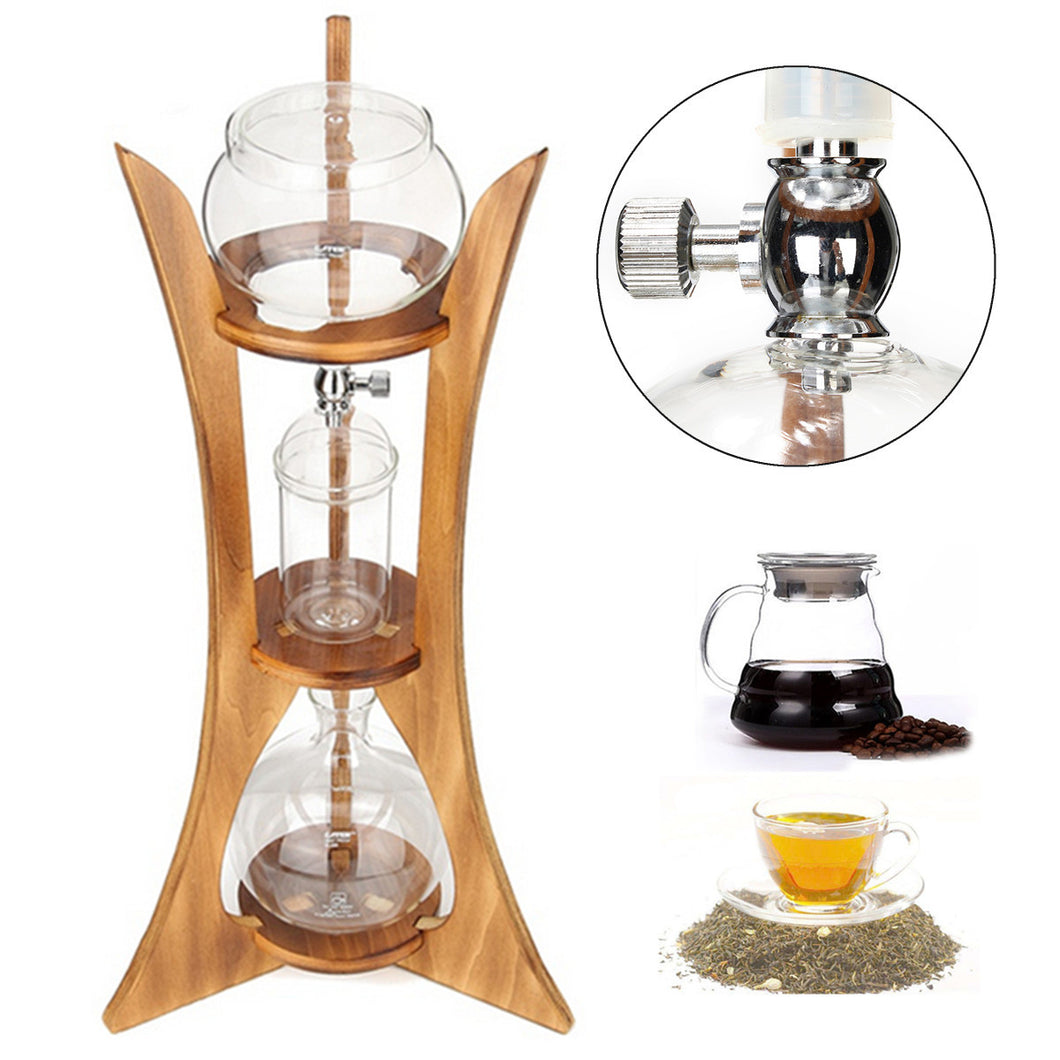 Cold Drip Coffee Maker Ice Dutch Brew Machine Free Filter Paper Serve 10 Cups