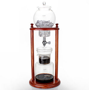 Ice Cold Brew Coffee Maker Home Wooden Water drip Coffee Dutch Brewed Machine