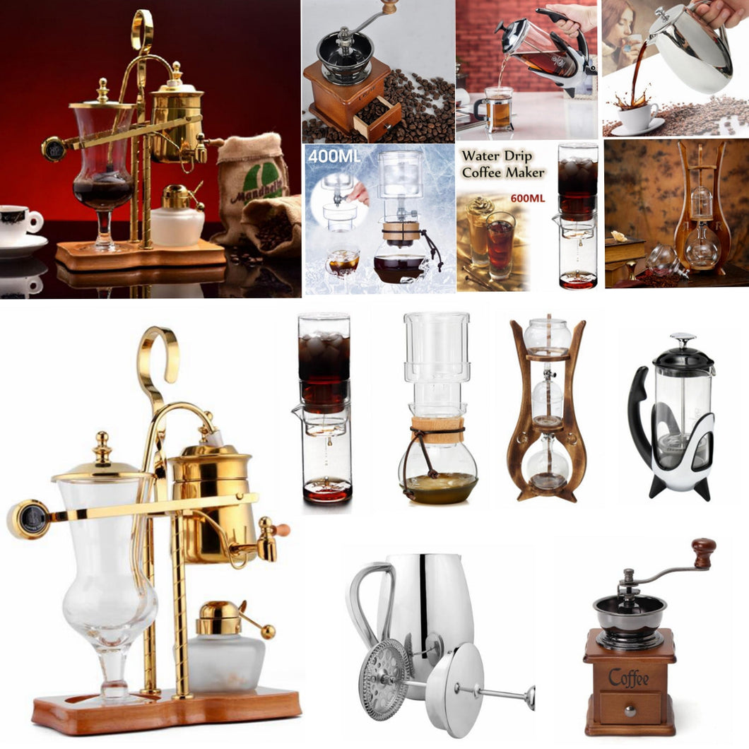Coffee Maker Tea Pot Belgium Balance Syphon Dutch Ice Cold Dripper French Press