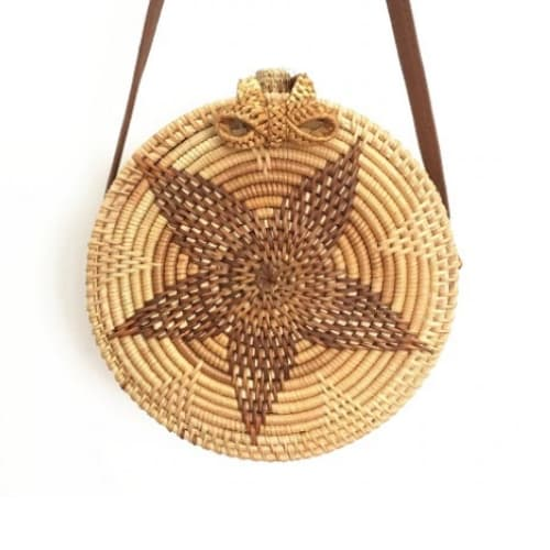 sac rond paille floradia