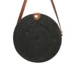 Sac rond paille luxina