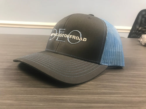Grey/Blue Trucker Hat