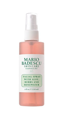 FACIAL SPRAY WITH ALOE, HERBS AND ROSEWATER - 4fl oz