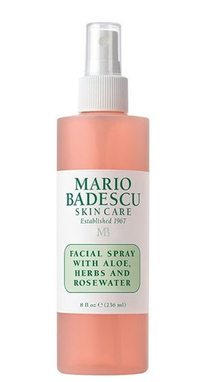 FACIAL SPRAY WITH ALOE, HERBS AND ROSEWATER - 8fl oz
