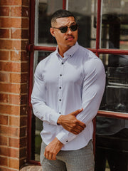 Tailored Athletic Fit Dress Shirt | Kojo Fit