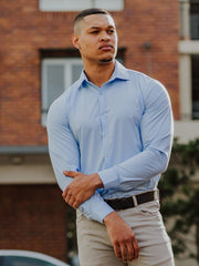 Best Fitting Athletic Fit Dress Shirt | Kojo Fit