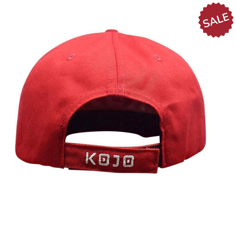 Red Velcro Mens Gym Cap