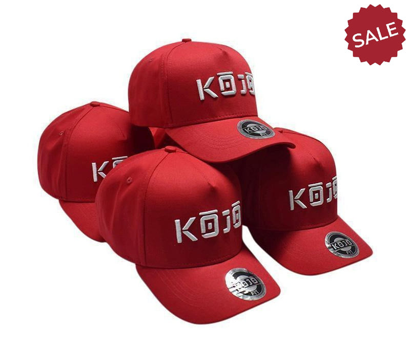 A Frame Baseball Cap - Cherry Red - Kojo Fit