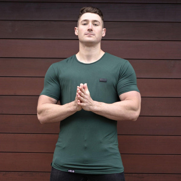 Emerald Green Tall Longline t-shirt muscle fit athletic bodybuilders