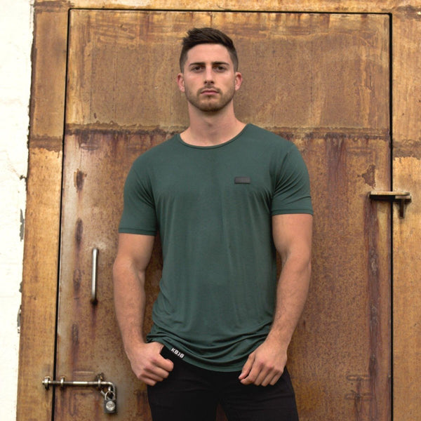 Emerald Green Bamboo T-shirt tall athletic fit