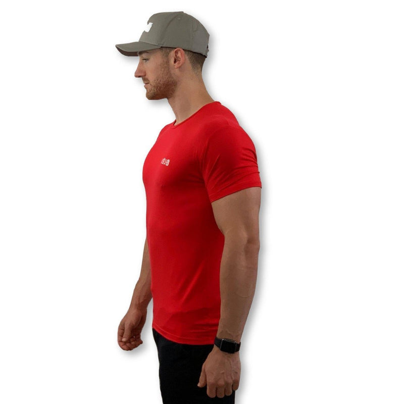 Active X - Muscle Fit T Gym Shirt - Bamboo - Cherry Red - Mens - Kojo Fit