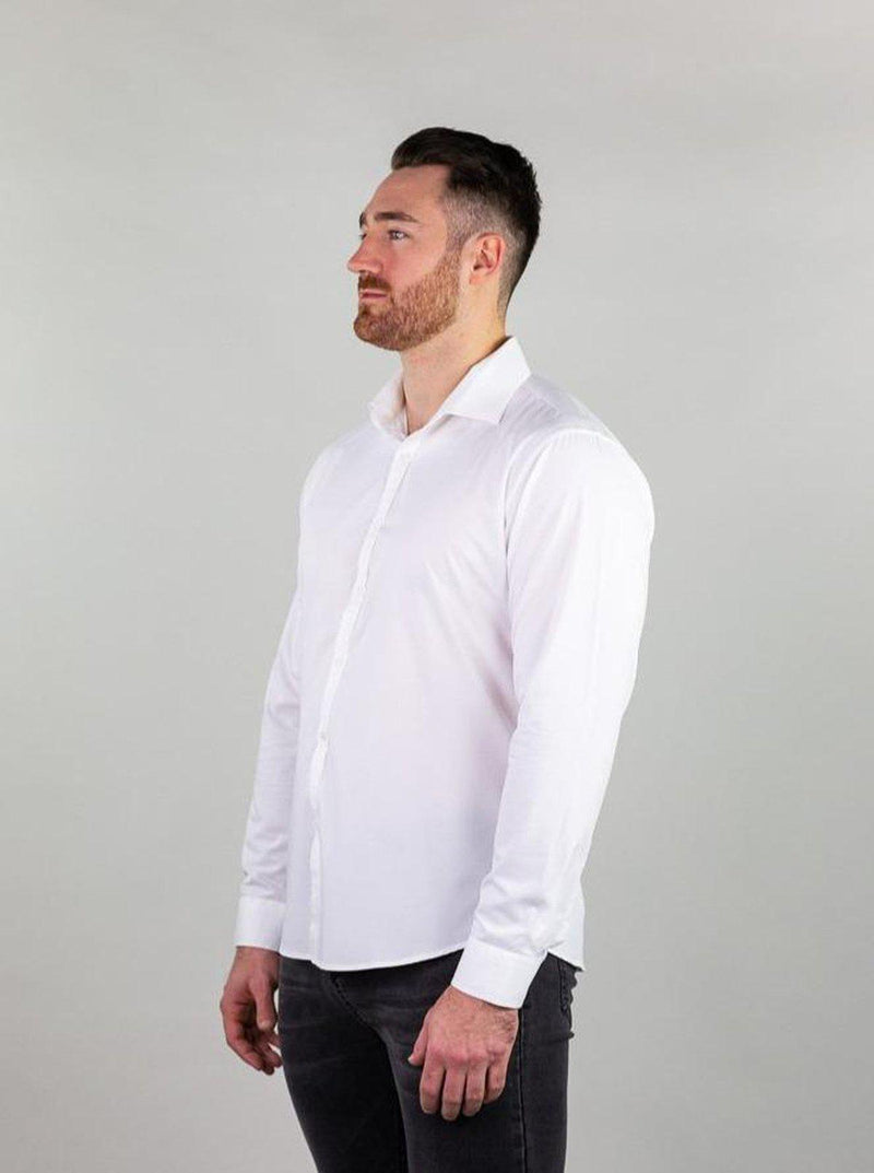 V Taper Fit Dress Shirt For Muscular Guys