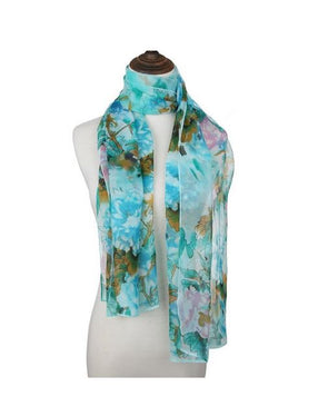 LONG CHIFFON VISCOSE SCARF
