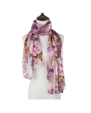 LONG CHIFFON SILK SCARVES