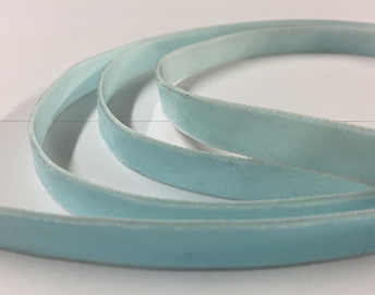 LIGHT BLUE VELVET RIBBON