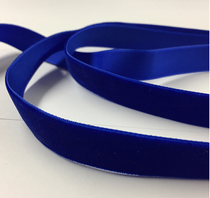 ROYAL BLUE VELVET RIBBON