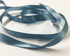 ANTIQUE BLUE SATIN RIBBON