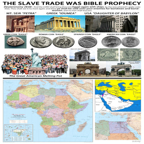 THE SLAVE TRADE WAS BIBLE PROPHESY CAMP SIGN