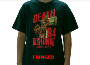 DEATH B4 DISHONOR FRINGED T-SHIRT