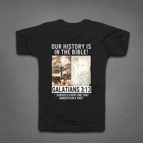 GALATIANS 3:13 FRINGED T-SHIRT