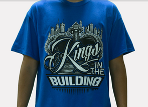 KINGS IN THE BUILDING FRINGED T-SHIRT