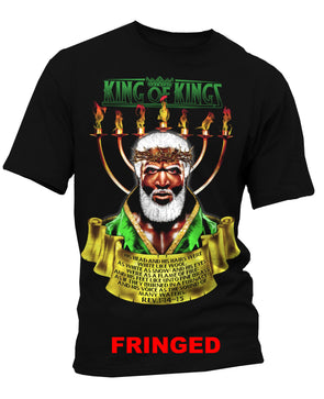KING OF KINGS FRINGED T-SHIRT