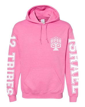 WOMEN'S ISRAEL EMBROIDERED PULLOVER HOODED SWEATSHIRT