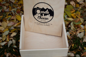 Curds Square Wooden Gift Box